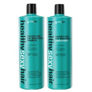 Sexy Hair Healthy Sulfate Free Soy Moisturising Shampoo 1000ml & Conditioner 1000ml Duo