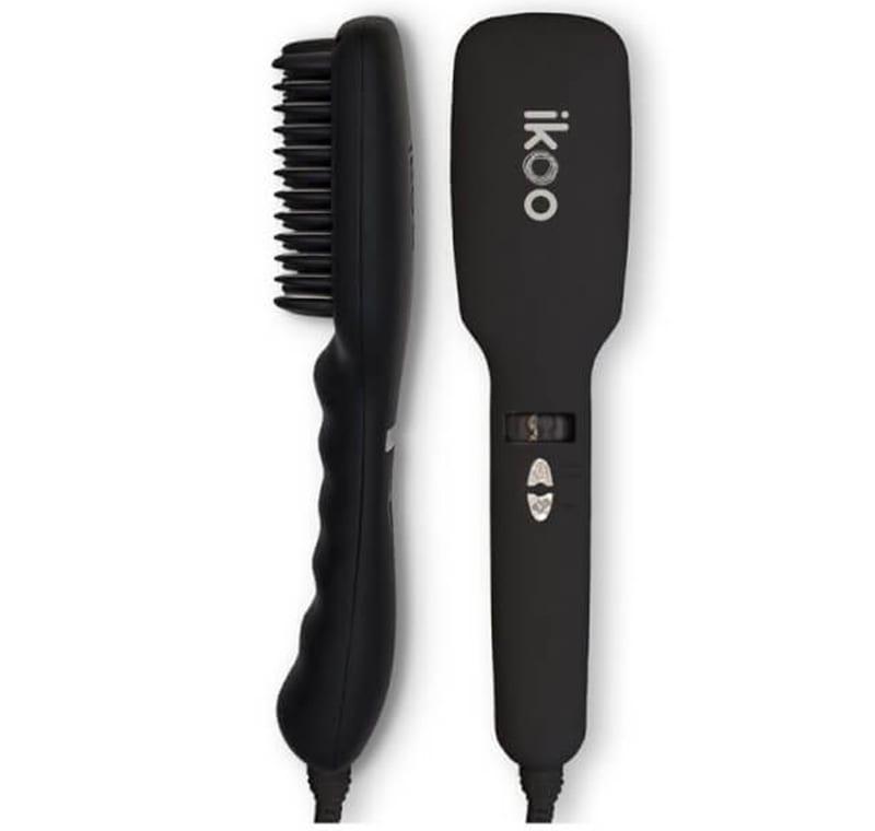 ikoo E-Styler Hair Straightening Brush Black