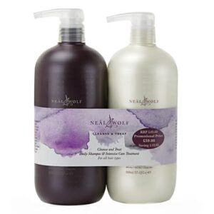 Neal & Wolf Cleanse & Treat Backwash Shampoo 1000ml & Conditioner 1000ml Duo