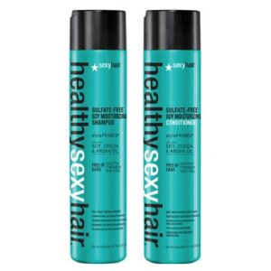 Sexy Hair Healthy Sulfate Free Soy Moisturising Shampoo 300ml & Conditioner 300ml Duo