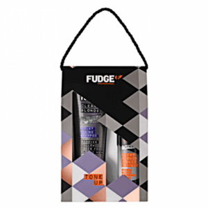 Fudge Tone Up Violet Blonde Toning Shampoo 300ml & Toning Tri Blo Spray 150ml Gift Set