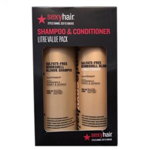 Sexy Hair Blonde Sexy Hair Shampoo 1000ml & Conditioner 1000ml Duo