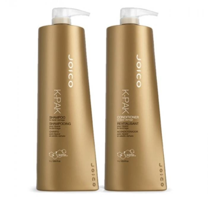 Joico K-Pak Reconstruct Shampoo 1000ml & Conditioner 1000ml Duo