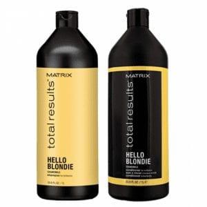 Matrix Total Results Hello Blondie Shampoo 1000ml & Conditioner 1000ml Duo