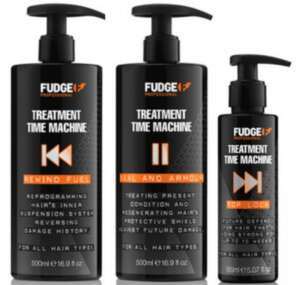 FUDGE SALON STRENGTH TREATMENT TIME MACHINE SET TO REVERSE EXTREME HAIR DAMAGE