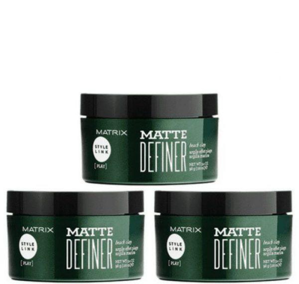 MATRIX BIOLAGE STYLE LINK MATTE DEFINER BEACH CLAY 100ML PACK OF 3