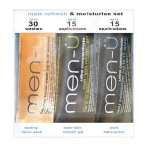 Men-U Matt Refresh & Moisturise Set - 3 x 15ml