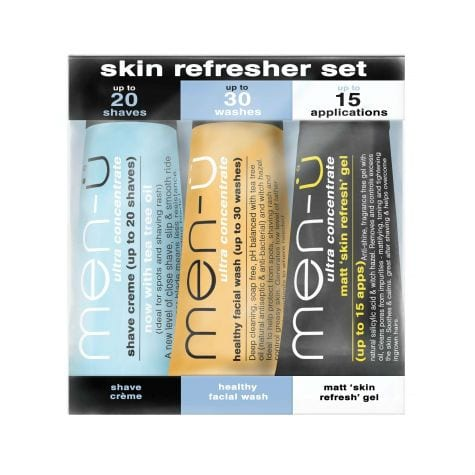 Men-U Skin Refresher Set - 3 X 15ml