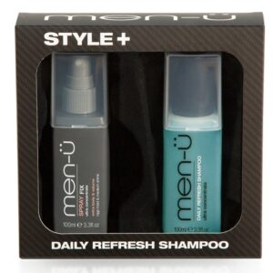 Men-U Style Spray Fix & Daily Refresh Shampoo Gift Set - 100ml