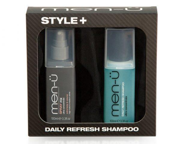 Men-U Style Spray Fix & Daily Refresh Shampoo Gift Set - 100ml