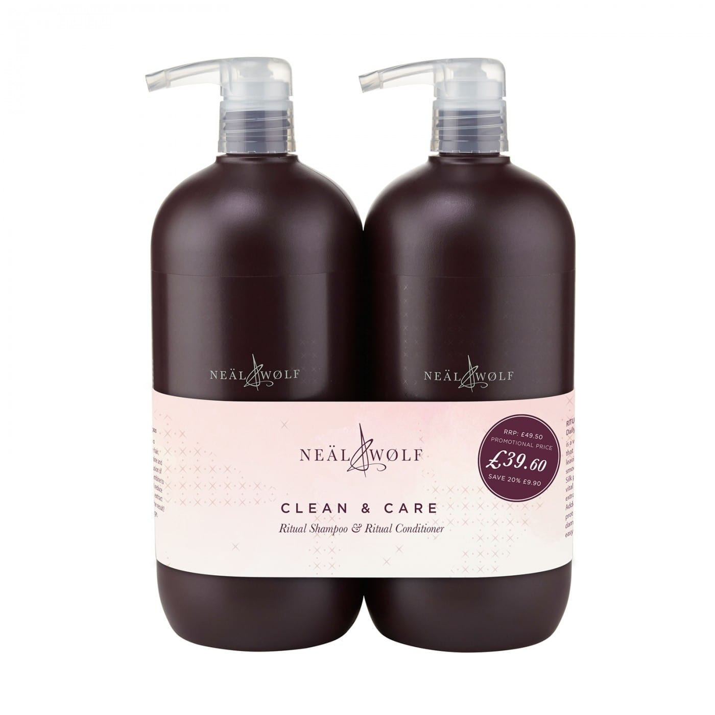 Neal And Wolf Clean And Care Backwash Duo