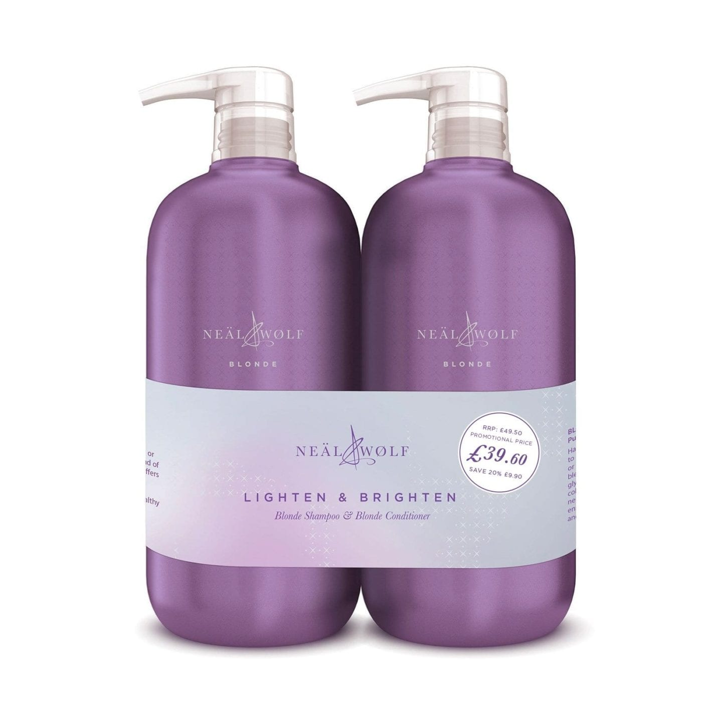 Neal And Wolf Lighten And Brighten Backwash Duo