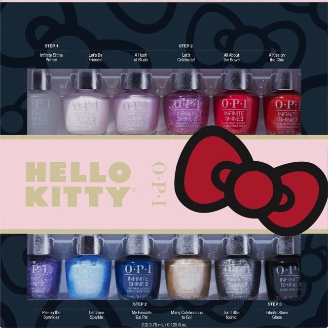 OPI Hello Kitty Collection Infinite Shine Mini Gift Set (12 x 3.75ml)