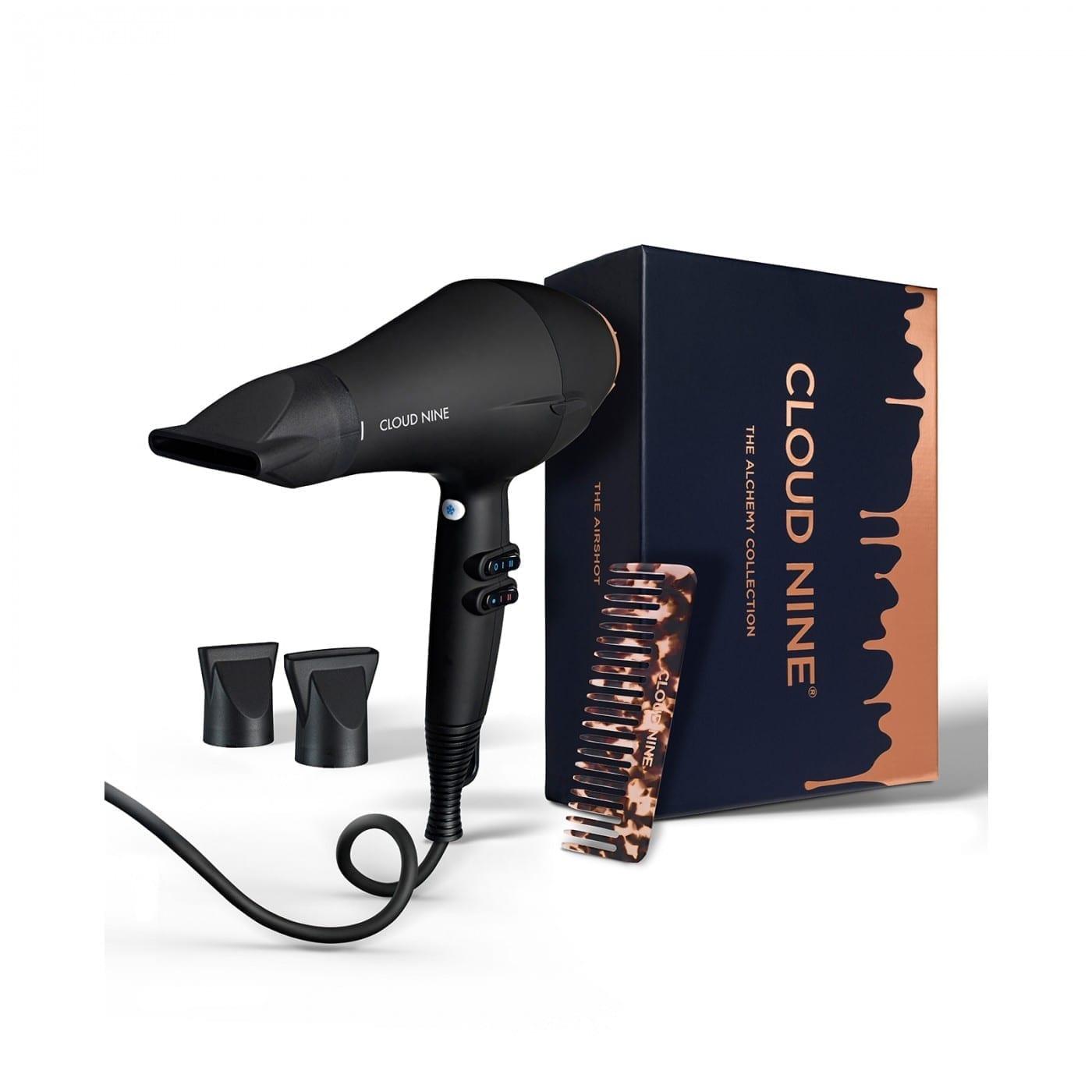 Cloud Nine Airshot Hairdryer Alchemy Gift Set 2019 + FREE Luxury Texture Comb