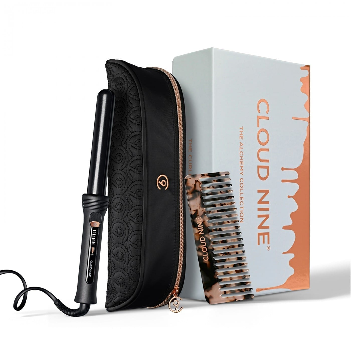 Cloud Nine Curling Wand Alchemy Gift Set 2019 + FREE Luxury Texture Comb