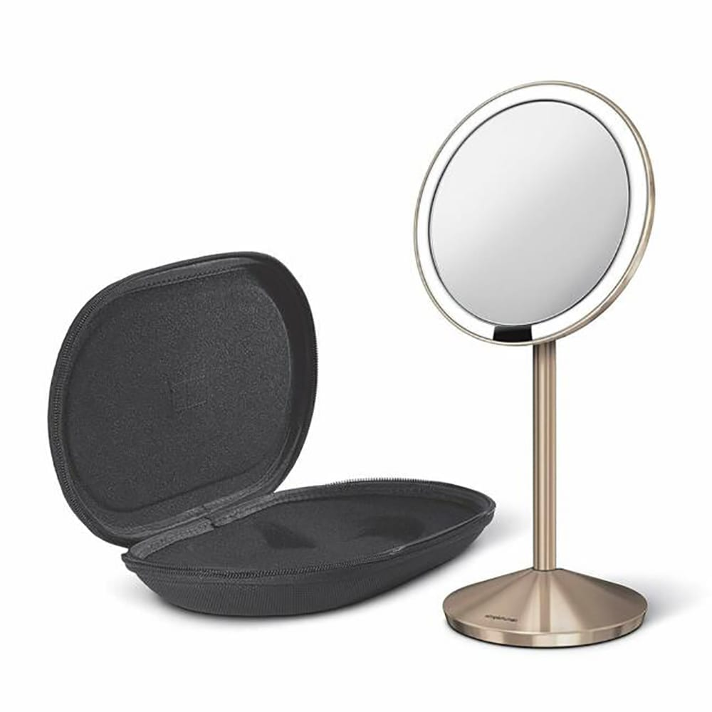 Simplehuman Mini Sensor Mirror, Rose Gold, Stainless Steel, 12cm 10x Magnification