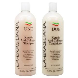 La Brasiliana UNO Keratin After Treatment Shampoo and Conditioner