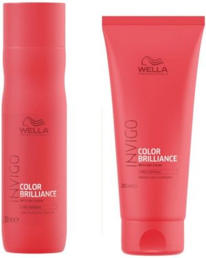 Wella INVIGO Color Brilliance Color Protection Fine/Normal Shampoo 250ml Conditioner 200ml