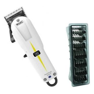 Wahl Cordless Super Taper Clipper and 1-8 Black Clipper Comb Set
